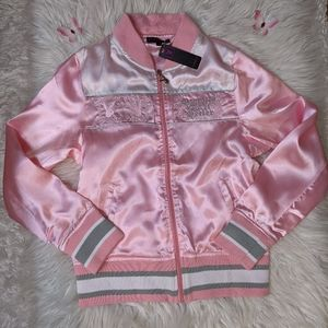 Brand new!  Y2K baby pink satin Playboy jacket 🌸